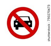 no parking sign vector | Shutterstock .eps vector #750270673
