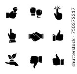 hand icons set | Shutterstock .eps vector #750273217