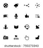 communication icons set   Shutterstock .eps vector #750273343