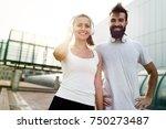 portrait of young attractive...   Shutterstock . vector #750273487
