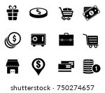 commerce icons set | Shutterstock .eps vector #750274657