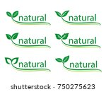 leafs  plant  tree nature logo... | Shutterstock .eps vector #750275623