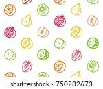 pattern of fruit. | Shutterstock .eps vector #750282673