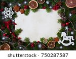 christmas background for... | Shutterstock . vector #750287587