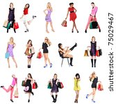 women on shopping | Shutterstock . vector #75029467