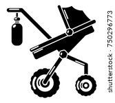 baby carriage classy icon.... | Shutterstock .eps vector #750296773