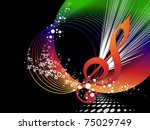 abstract colorful musical... | Shutterstock .eps vector #75029749
