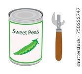 vector illustration metal tin... | Shutterstock .eps vector #750322747