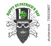 happy saint patrick day. irish...   Shutterstock .eps vector #750325807