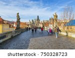 prague  czech republic  ... | Shutterstock . vector #750328723