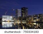 modern apartment buildings ... | Shutterstock . vector #750334183