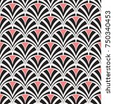 vintage art deco seamless... | Shutterstock .eps vector #750340453