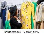 horizontal rearview shot of a... | Shutterstock . vector #750345247