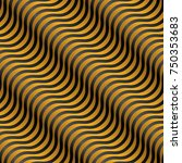 abstract black and yellow 3d... | Shutterstock .eps vector #750353683