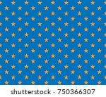 vector golden star on a blue...   Shutterstock .eps vector #750366307