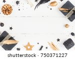 christmas composition.... | Shutterstock . vector #750371227