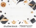 christmas composition.... | Shutterstock . vector #750371227