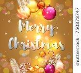 merry christmas. christmas... | Shutterstock .eps vector #750373747