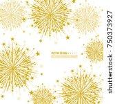 vector firework design on white ... | Shutterstock .eps vector #750373927