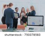succesfull business team... | Shutterstock . vector #750378583