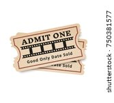 two vintage tickets to the... | Shutterstock .eps vector #750381577