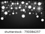 christmas shining bokeh... | Shutterstock .eps vector #750386257