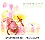 vibrant spring illustration | Shutterstock . vector #75038695