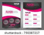 black and pink flyer template... | Shutterstock .eps vector #750387217