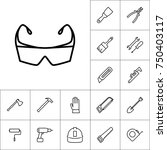 line protection safety glasses... | Shutterstock .eps vector #750403117