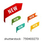 new tag ribbon banner vector. | Shutterstock .eps vector #750403273