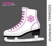 white ice skate. figure skating.... | Shutterstock .eps vector #750403333