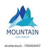 mountain logo template | Shutterstock .eps vector #750403447