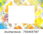 mock up stone wall frame  card  ...   Shutterstock . vector #750405787