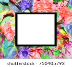 abstract flower picture ...   Shutterstock . vector #750405793