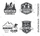 set of mountain biking clubs.... | Shutterstock .eps vector #750410653