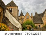 medieval houses in the village... | Shutterstock . vector #750412387
