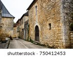 medieval houses in the village... | Shutterstock . vector #750412453