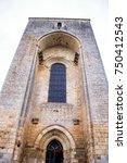 romanic church of saint amand... | Shutterstock . vector #750412543