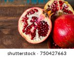 Healthy Fruit Red  Pomegranate...