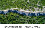 aerial view looking down on... | Shutterstock . vector #750427963