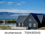 typical house in iceland | Shutterstock . vector #750430543