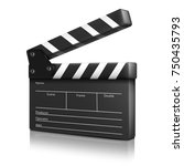 cinema clap. | Shutterstock .eps vector #750435793