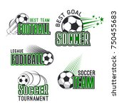 soccer tournament or football... | Shutterstock .eps vector #750455683