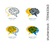 vector human brain and speech... | Shutterstock .eps vector #750463363