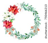 christmas and new year... | Shutterstock . vector #750466213