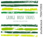 brush strokes set backgrounds.... | Shutterstock .eps vector #750473503
