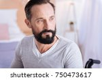 time for thoughts. serious... | Shutterstock . vector #750473617