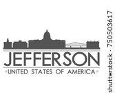 jefferson skyline silhouette... | Shutterstock .eps vector #750503617