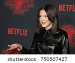 millie bobby brown at the... | Shutterstock . vector #750507427