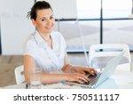 portrait of businesswoman... | Shutterstock . vector #750511117
